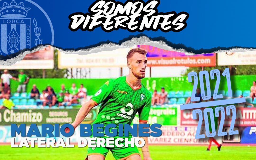 Mario Begines, nuevo jugador del Lorca Deportiva